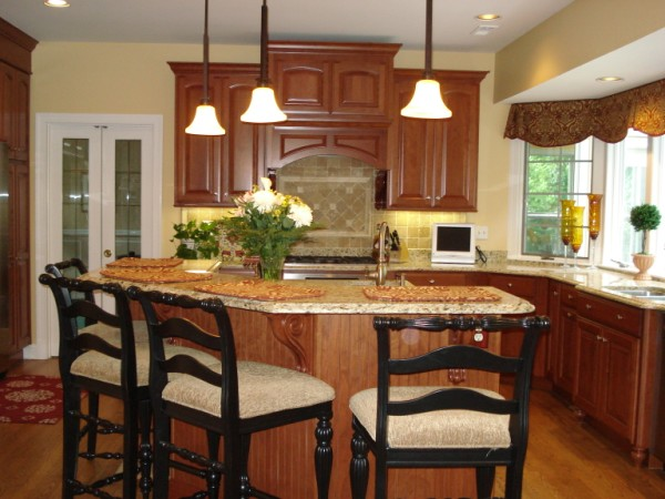 Kitchen Design With Peninsula Pleasing Elevated Angled Island 600×450 Pixels  Kitchen Ideas Design Decoration